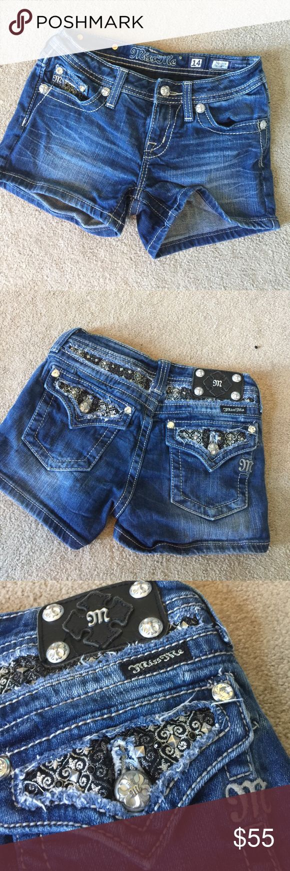 Girls miss me jeans shorts 98% cotton 2% elastane. In excellent condition. 3 inch inseam. ND Miss Me Bottoms Shorts