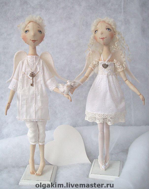 """Купить """"Да хранят Вас Ангелы!!"""" - ангелы, подарок влюбленным, интерьерная кукла, ароматизированная кукла"""