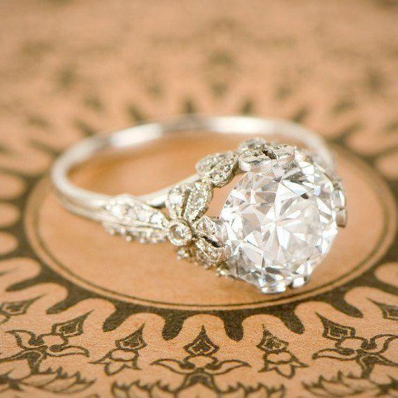 Art Deco Verlobungsringe Baguette Solitaire Verlobungsringe Kay Jewellers Stun Antique Engagement Rings Simple Engagement Rings Vintage Engagement Rings