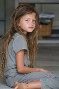 Thylane Blondeau...10 year old model from Europe and stunningly beautiful