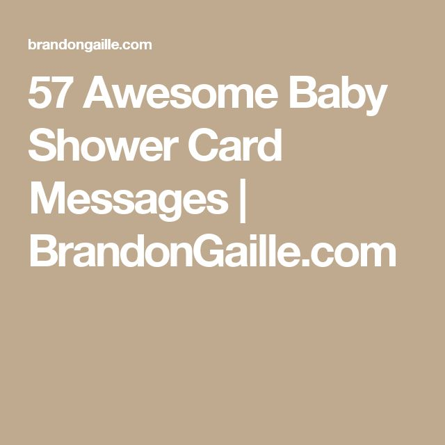 57 Awesome Baby Shower Card Messages | BrandonGaille.com