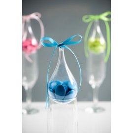 Goutte d'eau transparente à dragées 11 cm