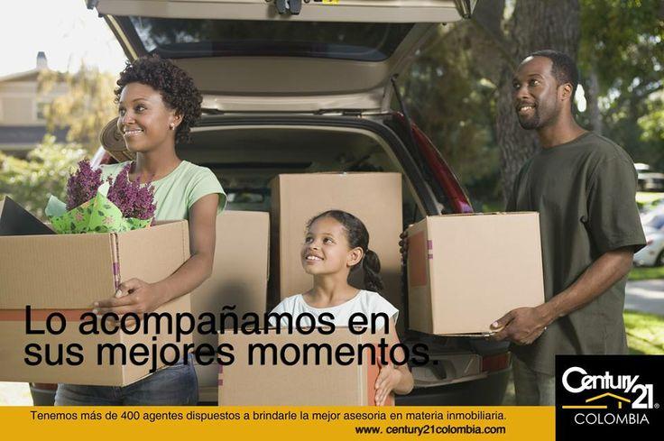 Queremos estar junto a usted en los momentos más importantes de su vida, por eso tenemos a su disposición 400 agentes inmobiliarios que le harán la vida más fácil a la hora de adquirir su vivienda. www.century21colombia.com