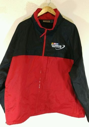 Harvard Square Nascar Technical Institute Windbreaker 2XL With hiden hoodie