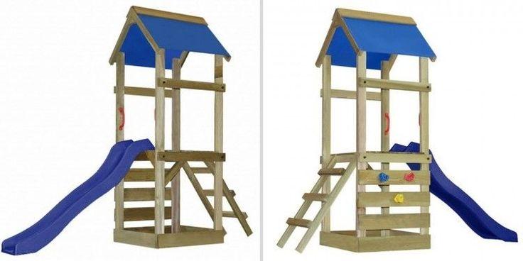 Children Outdoor Activity Center Wooden Backyard Climbing Playset Slide Ladder