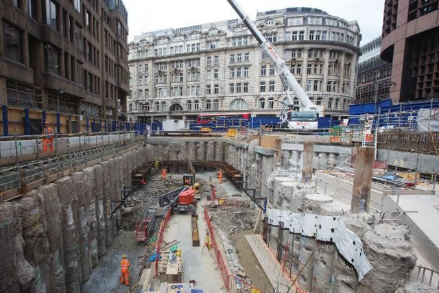 Large scale excavation at Liverpool Street. London's mammoth Crossrail infrastructure project recently completed the tunnelling phase. As the focus moves to fitting out the stations and tunnels, Rhys Vaughan Williams, head of mechanical, electrical and public health engineering, describes what lies ahead of and beyond the project's 2019 deadline.