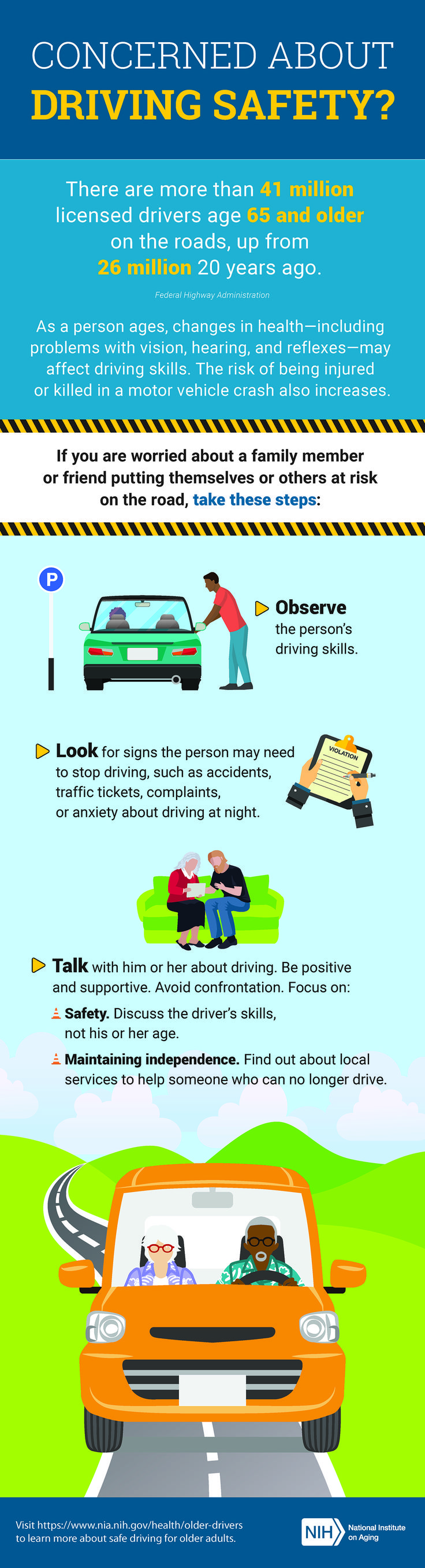 If you have concerns about a family member or friend, learn how to help them stay safe behind the wheel.
