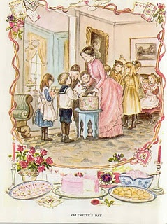 Tasha Tudor illustration for Valentine's Day