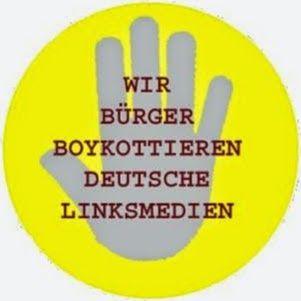 Wir Bürger boykottieren deutsche LINKSMEDIEN
