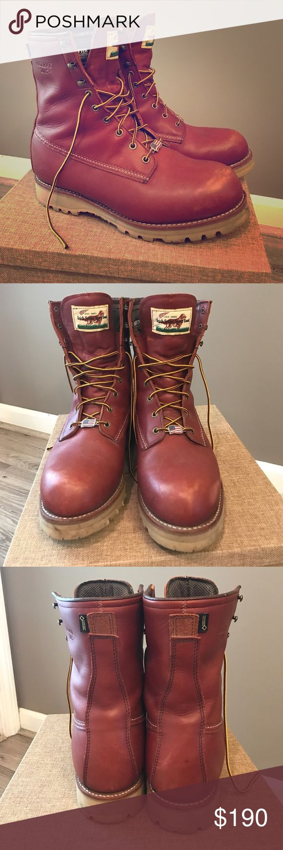 "Irish Setter Reserve 2015 Limited Edition Boots In excellent condition 8"" Boots. Work a handful of times. Style 4806 is an 8"" men's waterproof boot with 400 grams of Thinsulate® Ultra insulation Red Wing Shoes Shoes Boots"