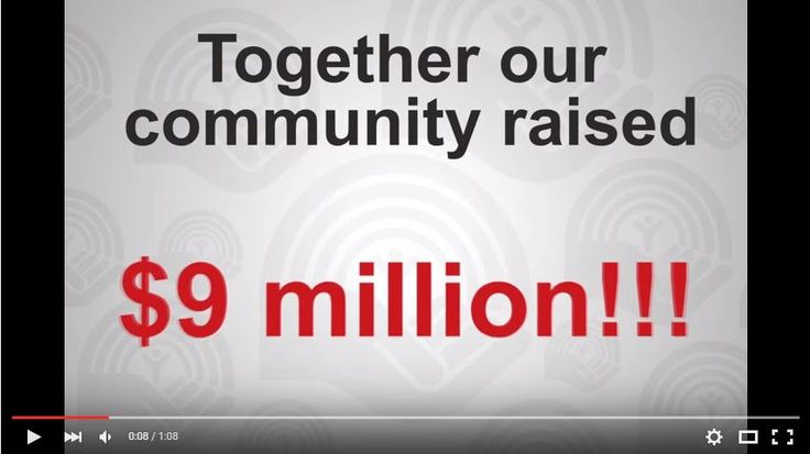 $9 million. Thank you from United way London and Middlesex - make sure to visit the link provided! https://www.youtube.com/watch?v=m6gtZTz9SFY
