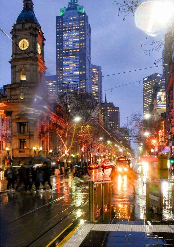 'No.12 Tram'. Collins Street, Melbourne. © G.C. Campbell.