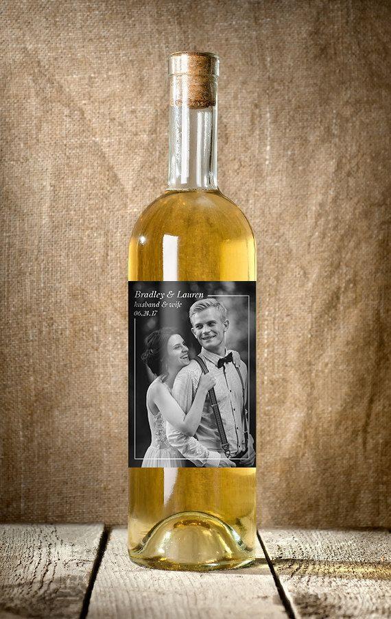 Wedding Wine Label Custom Wine Label Photo by LabelTheOccasion