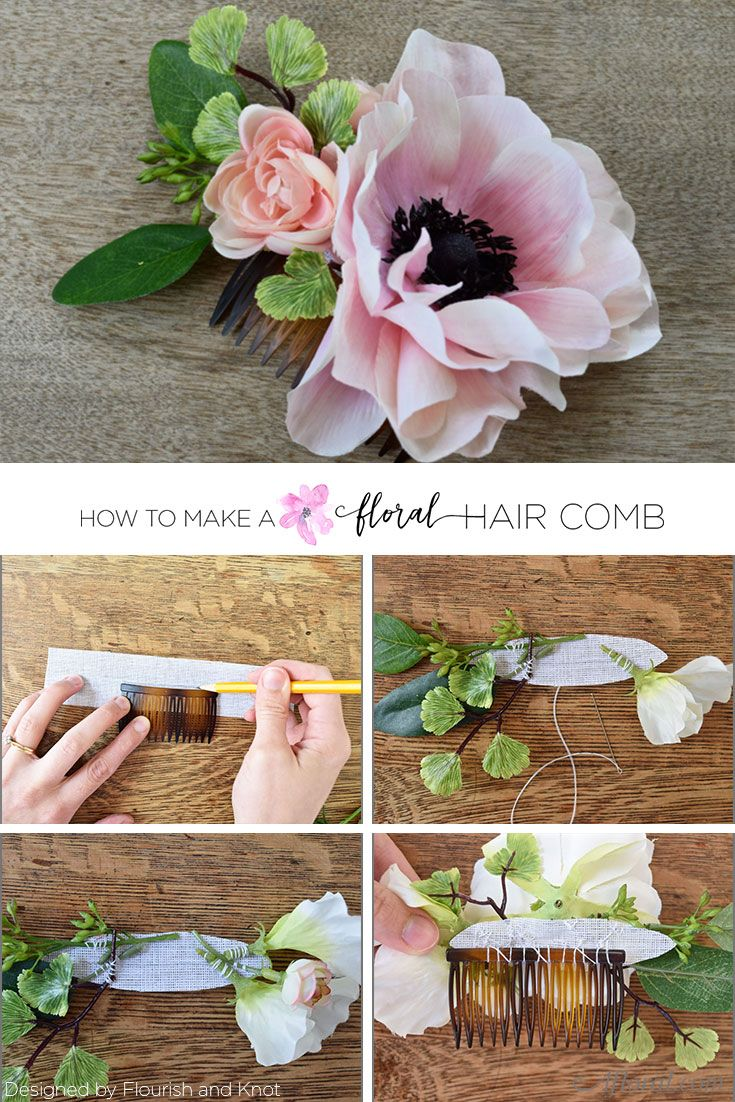 make your own wedding flower centerpieces%0A Learn how to make your own wedding hair accessories with this simple DIY by  Flourish and