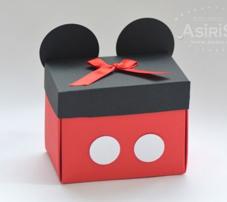 Cutii marturii botez Mickey Mouse | Micky Mouse favor Boxes by Asiris Atelier