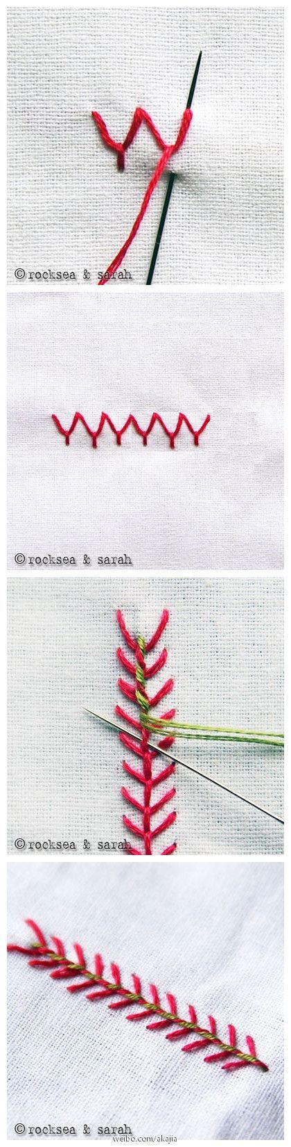 Embroidery Stitches - this is beautiful in these colors #embroidery