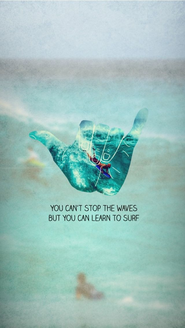Learn to Surf - iPhone wallpaper #quotes @mobile9