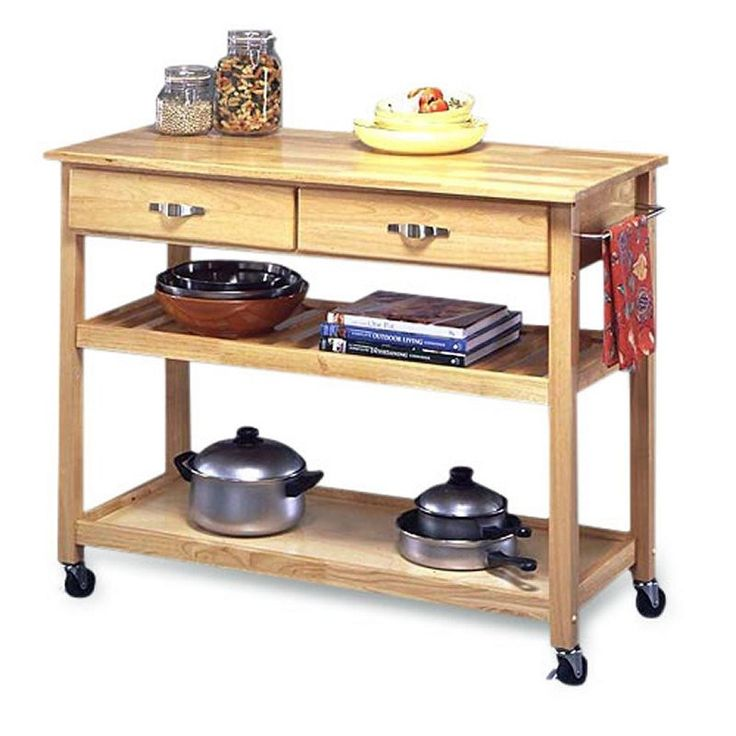 modern kitchen cart utility table with locking casters wheels