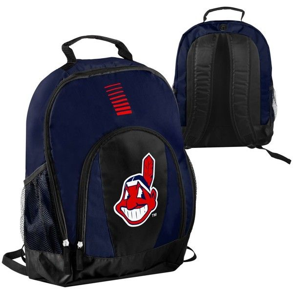 Forever Collectibles Cleveland Indians Prime Time Backpack ($25) ❤ liked on Polyvore featuring bags, backpacks, navy, knapsack bag, backpack bags, navy blue backpack, navy backpack and blue bag