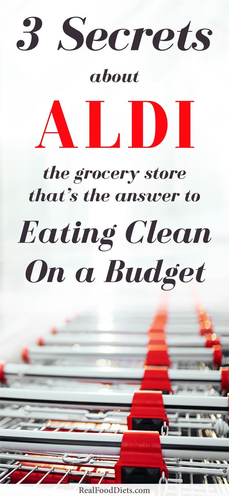 Making your meal plan? Be sure to plan a shopping trip to ALDI, the grocery store that's the answer to clean eating on a budget. Don't know what to buy at ALDI? They carry gluten-free, organic, and paleo diet friendly options. Click to read all of @Bacons on a Budget's ALDI secrets and the trick to eating healthy on a budget on @realfooddiet