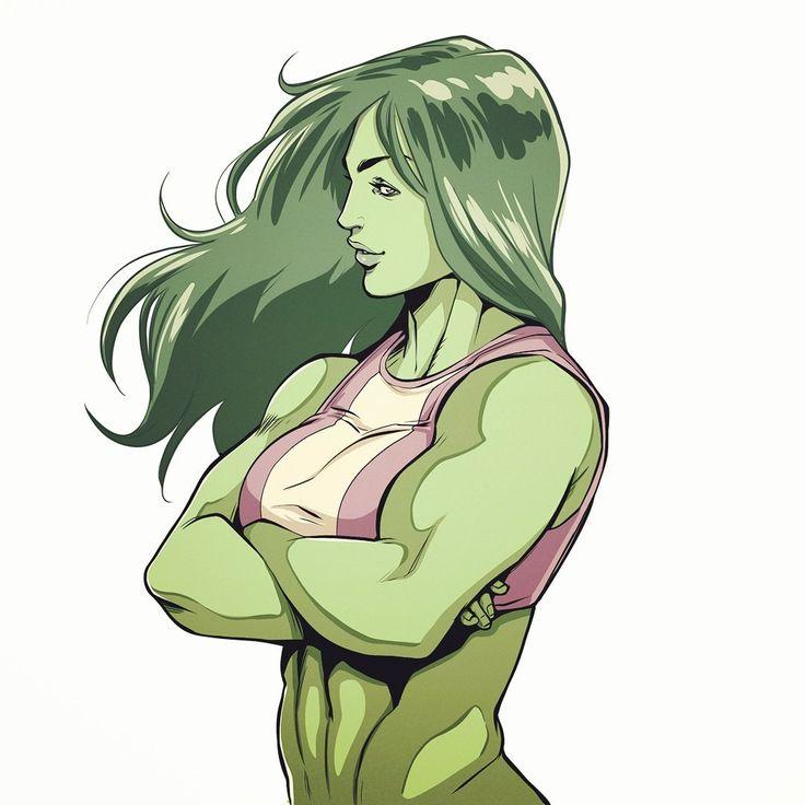 She-Hulk,Женщина-Халк, Дженнифер Уолтерс,Marvel,Вселенная Марвел,фэндомы,HECCHI DECHU,artist