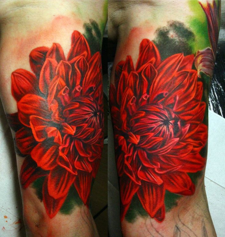 dahlia tattoo by NikaSamarina.deviantart.com on @deviantART