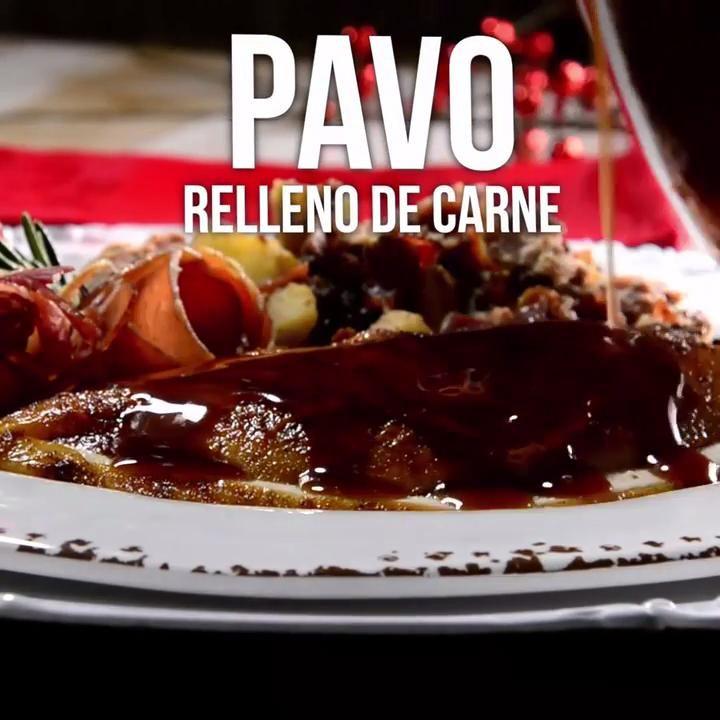 Video De Pavo Relleno De Carnes Pavo Navideño Receta Facil Pavo Relleno Recetas Con Pavo