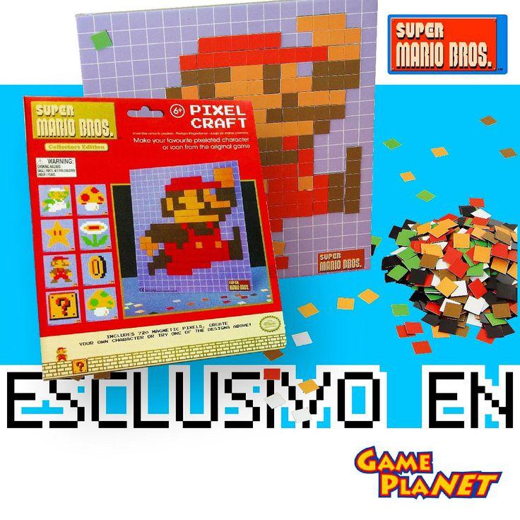 ¡Vamos a jugar! Mario Bros llega en exclusiva para #GamePlanet con este PixelCraft donde puedes recrear figuras del videojuego más emblemático de la historia con pequeños imanes en diferentes colores. ¿Qué esperas para adquirir el tuyo? #Novelmex #MarioBros #Nintendo #BandaGamer #PixelCraft #FelizJueves #GodinezGeek #VideojuegoOchentero #Atari #RifaNVLMX