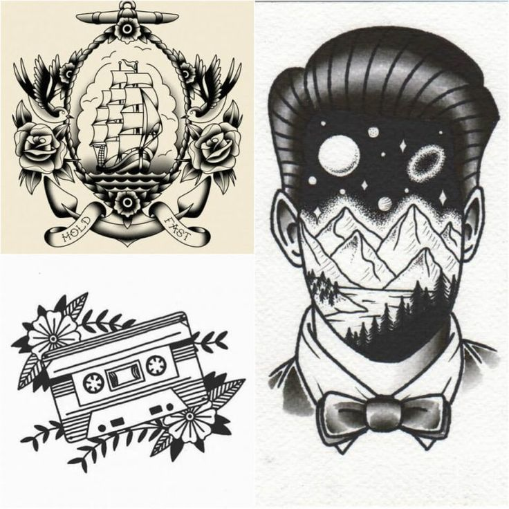 Old School Tattoos – Traditionelle amerikanische Tattoos mit einem Gefühl von Ironie   – tattoo dreams