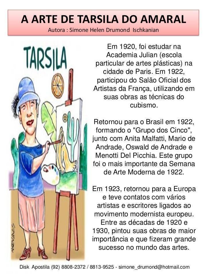 Atividades De Artes De Tarsila Do Amaral Atividade De