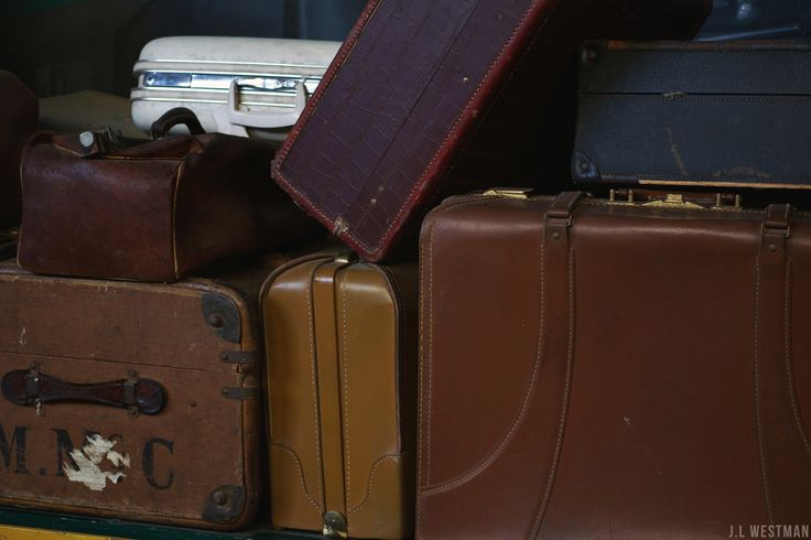 Vintage suitcases in St.Thomas train museum