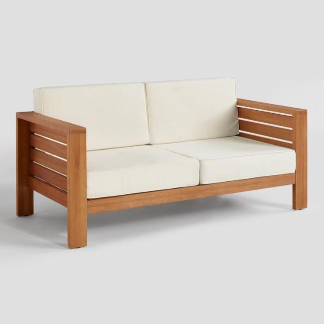 Natural Eucalyptus Formentera Outdoor Occasional Bench Wooden Bench Outdoor Wooden Couch Wooden Sofa Designs