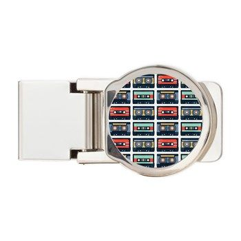 Cassettes Pattern Money Clip from cafepress store: AG Painted Brush T-Shirts. #cassettes #pattern #moneyclip