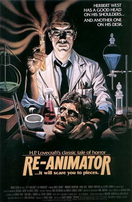 re-animator...Damn this movie was messed up! Still great but a severed head that violates a woman. That is just crazy.