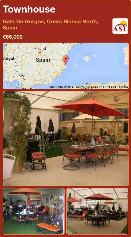 Townhouse in Gata De Gorgos, Costa Blanca North, Spain ►€65,000 #PropertyForSaleInSpain