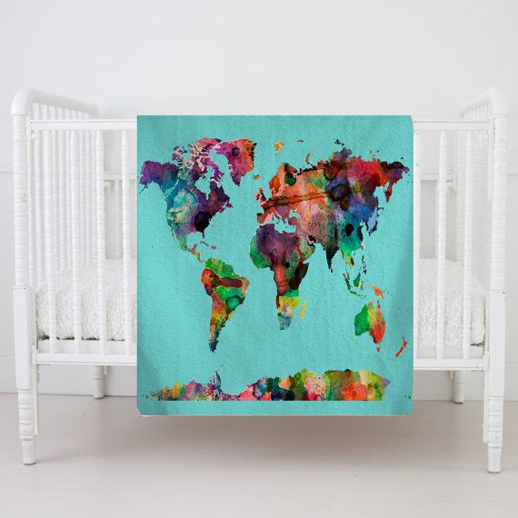 67 best custom blankets plush images on pinterest custom items similar to personalized watercolor world map plush fleece blanket shown aqua med blue hot pink available many color backgrounds sale pricing on gumiabroncs Images