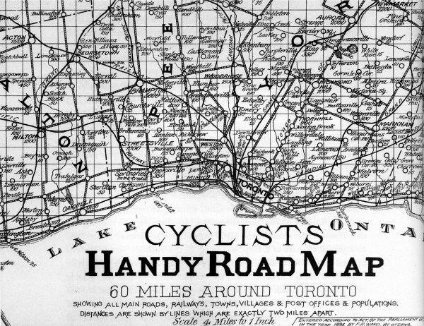 Next time you're cycling around Toronto (and way way way in the past)...here's just the map you need.