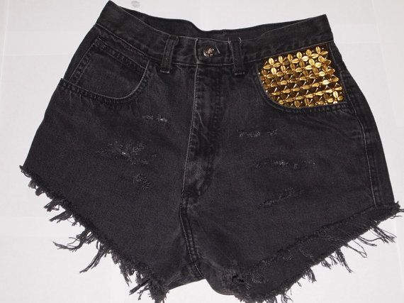 Levis 501 Studded Shorts High Waisted PLUS SIZES AVAILABLE $55 at www.staywild.etsy.com