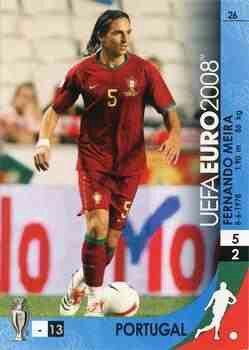 Fernando Meira of Portugal. Euro 2008 card.