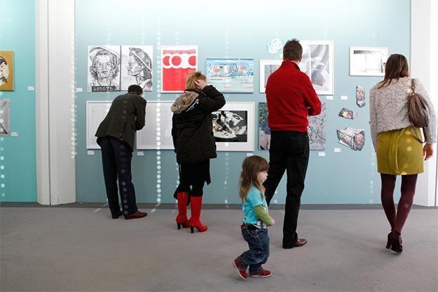 Young visitor, We Like Art @ Art Rotterdam 2014