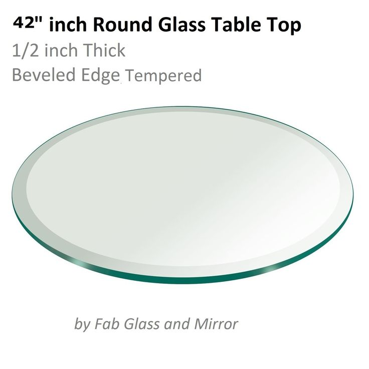 42 Round Beveled Glass Table Top