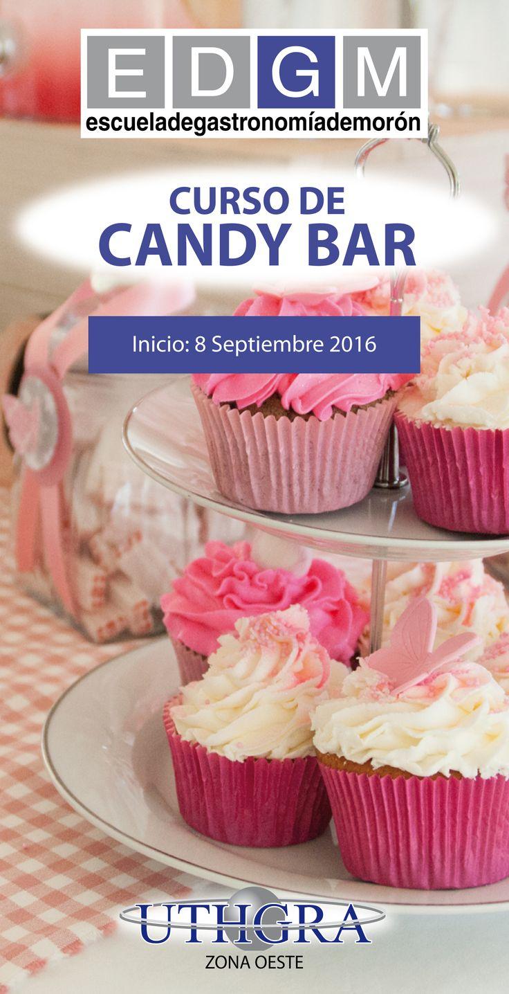 CURSO DE CANDY BAR  www.escuelauthgramoron.com.ar Aprende a armar mesas dulces para eventos con su correspondiente decoración y montaje. #Cupcakes #Golosinas #CandyBar #Cookies #Chocolates #CursosCortosdeCocina #EDGM