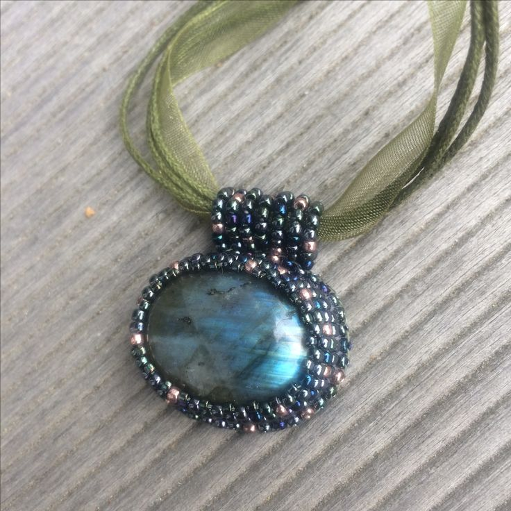 Beaded labradorite necklace