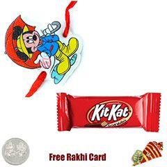 Send kids rakhi to usa with Kitkat chocolates via sendrakhi.com  #sendrakhitousa  #sendrakhitouk  #sendrakhitocanada  #sendrakhitouae