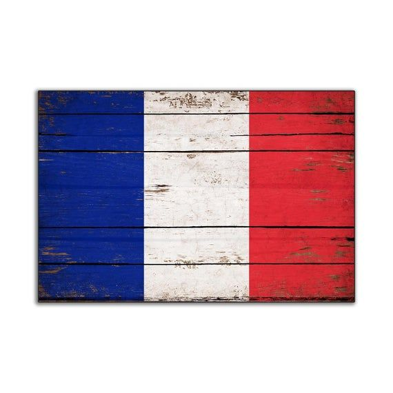 France Flag Wood French Flags Rustic Flags Wooden Handmade Etsy In 2020 Rustic Flags France Flag French Flag