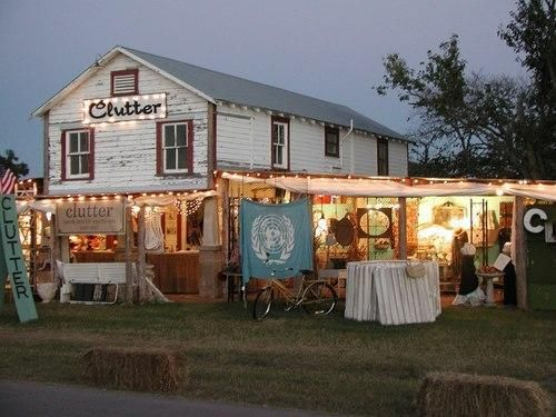 Die-hard shoppers from all over the U.S. make a mass pilgrimage Round Top, Texas for the bi-annual antiques fair.