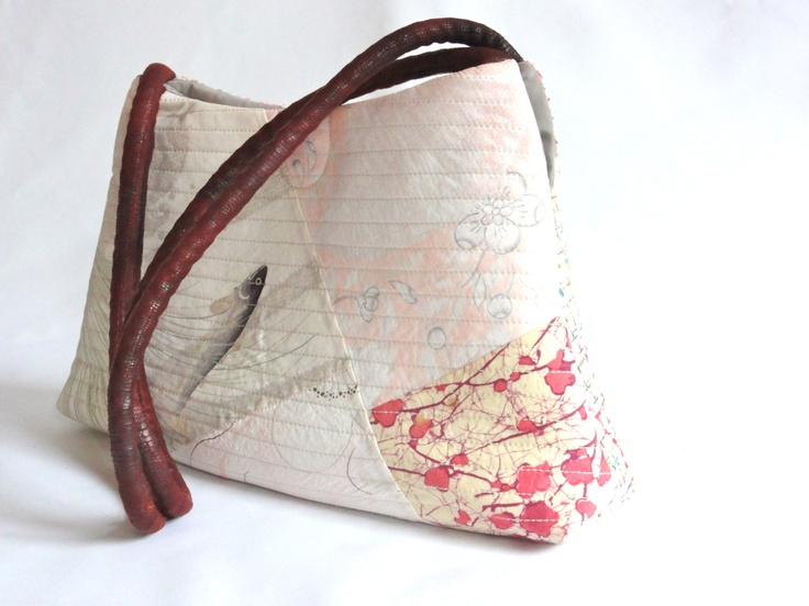 Vintage Japanese Kimono Fabric Quilted Shoulder Bag, Tote ...