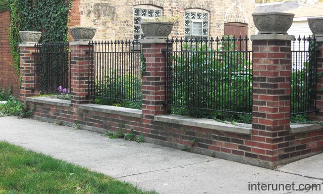Decorative Brick Fence | Fences Brick Decorative Columns Metal