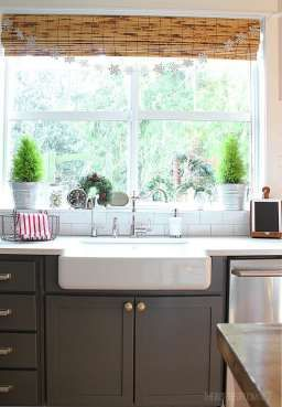 Tips For Hanging Bamboo Blinds And Curtains Kitchen