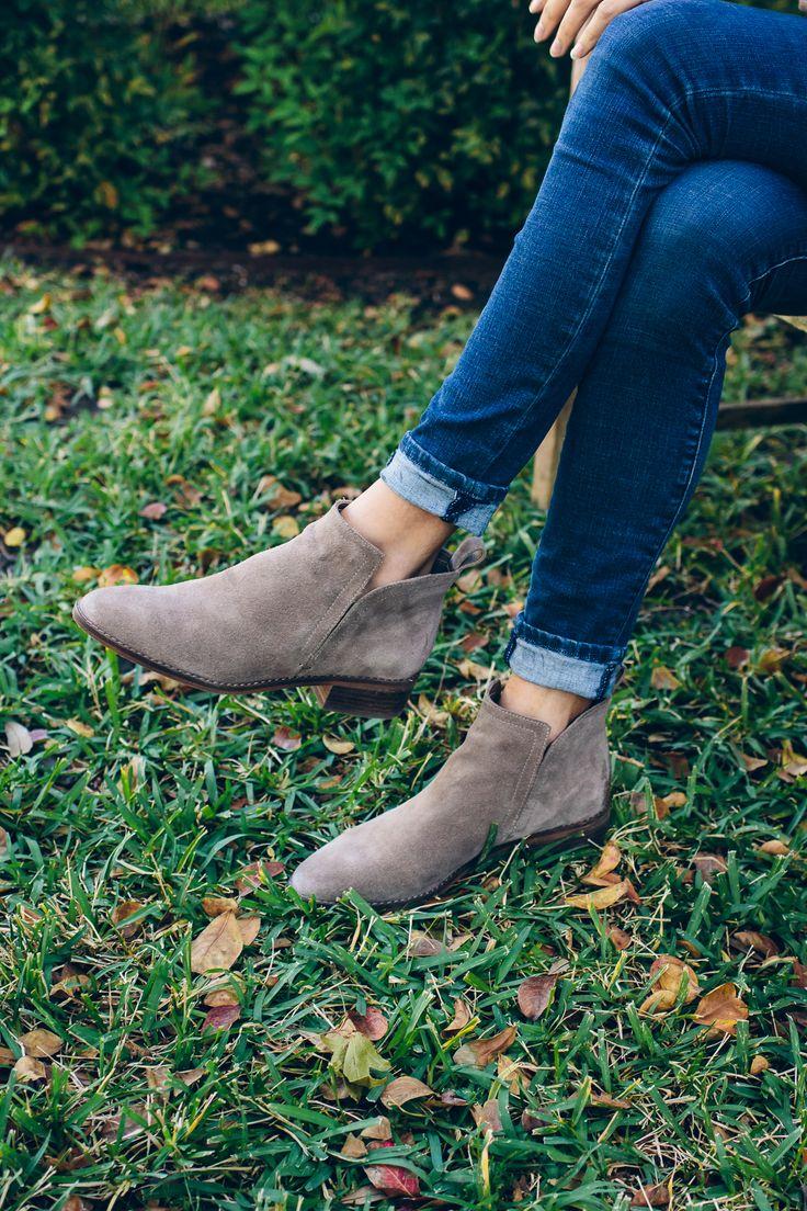 flat suede booties